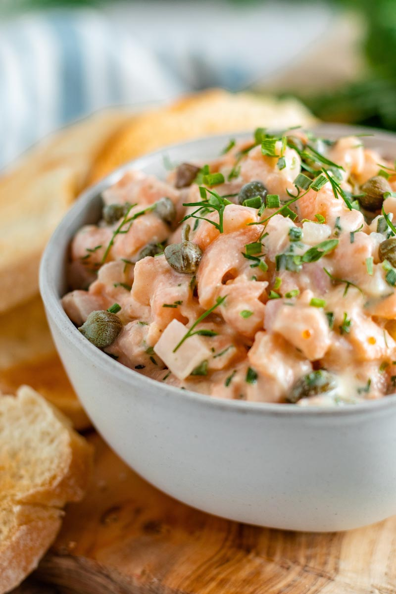 Salmon Tartare in a Bowl.