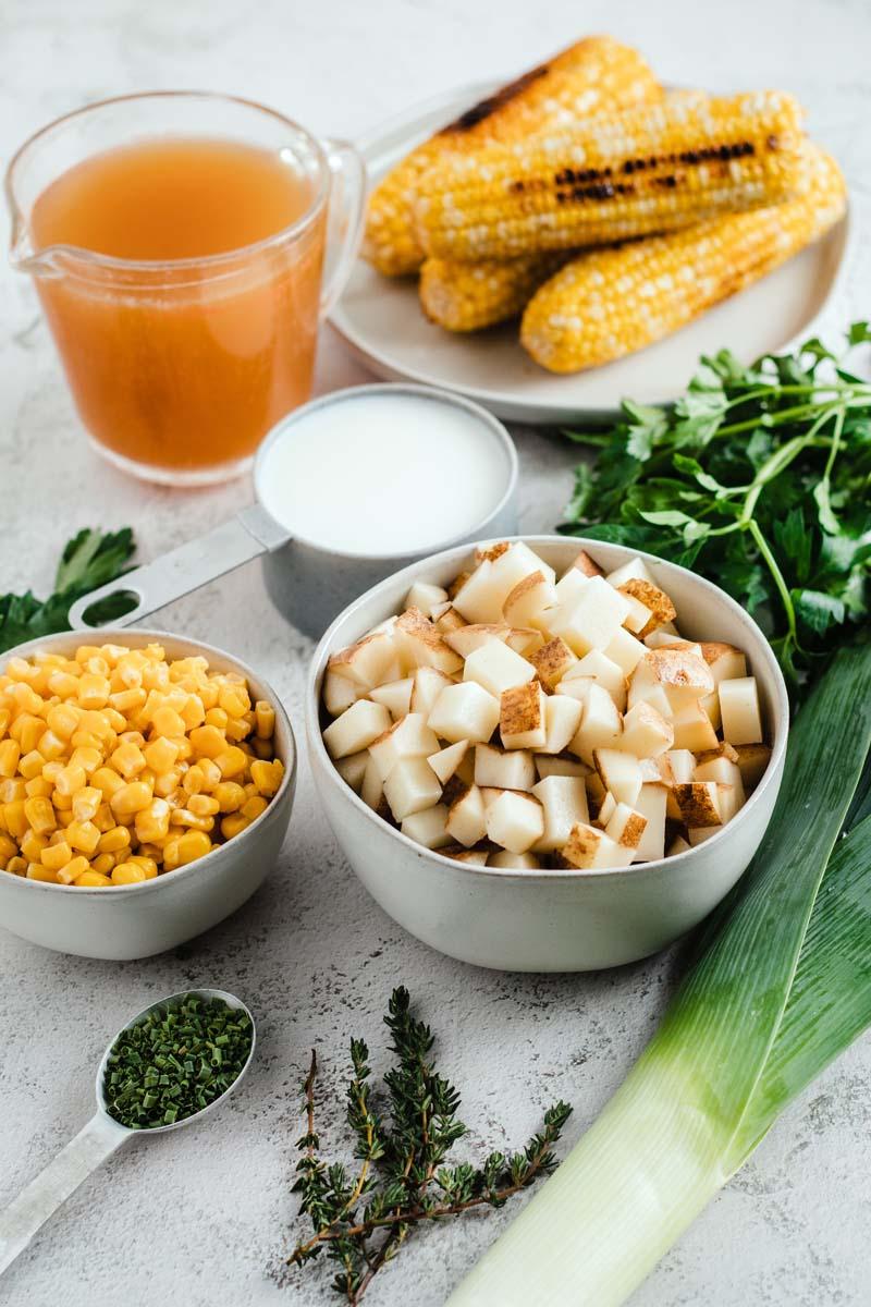 leek corn potato soup ingredients