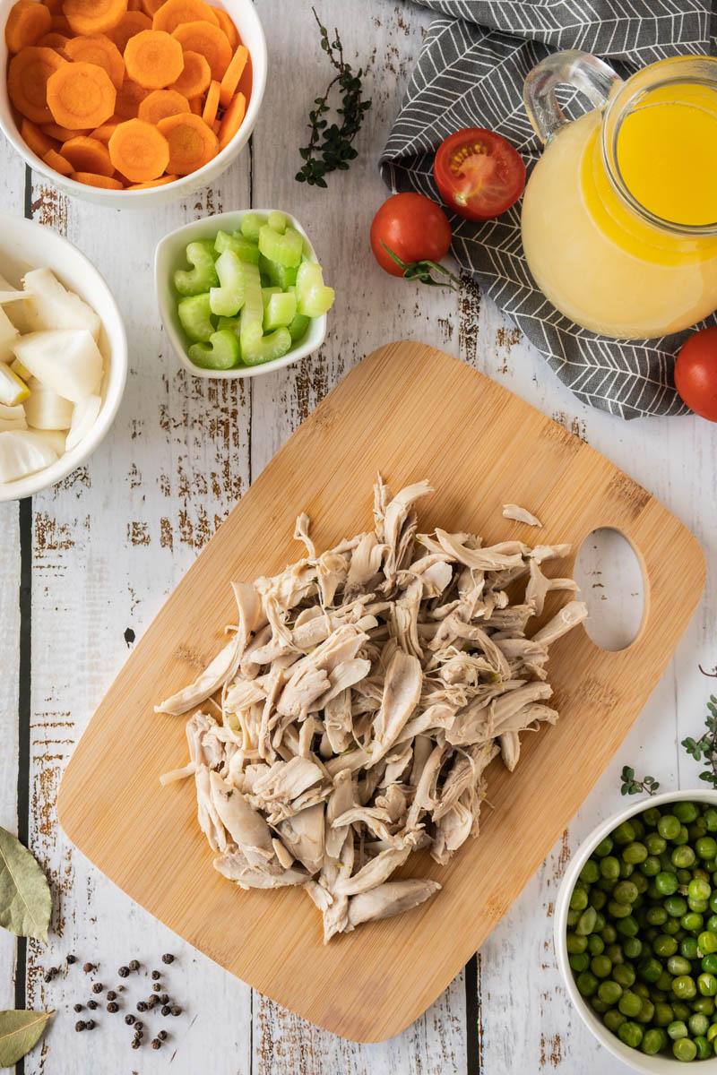 Ingredients for Leftover Turkey Soup.