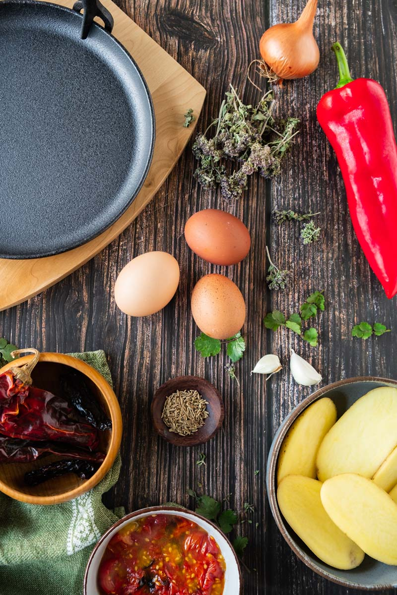 Mexican Baked Eggs Ingredients.