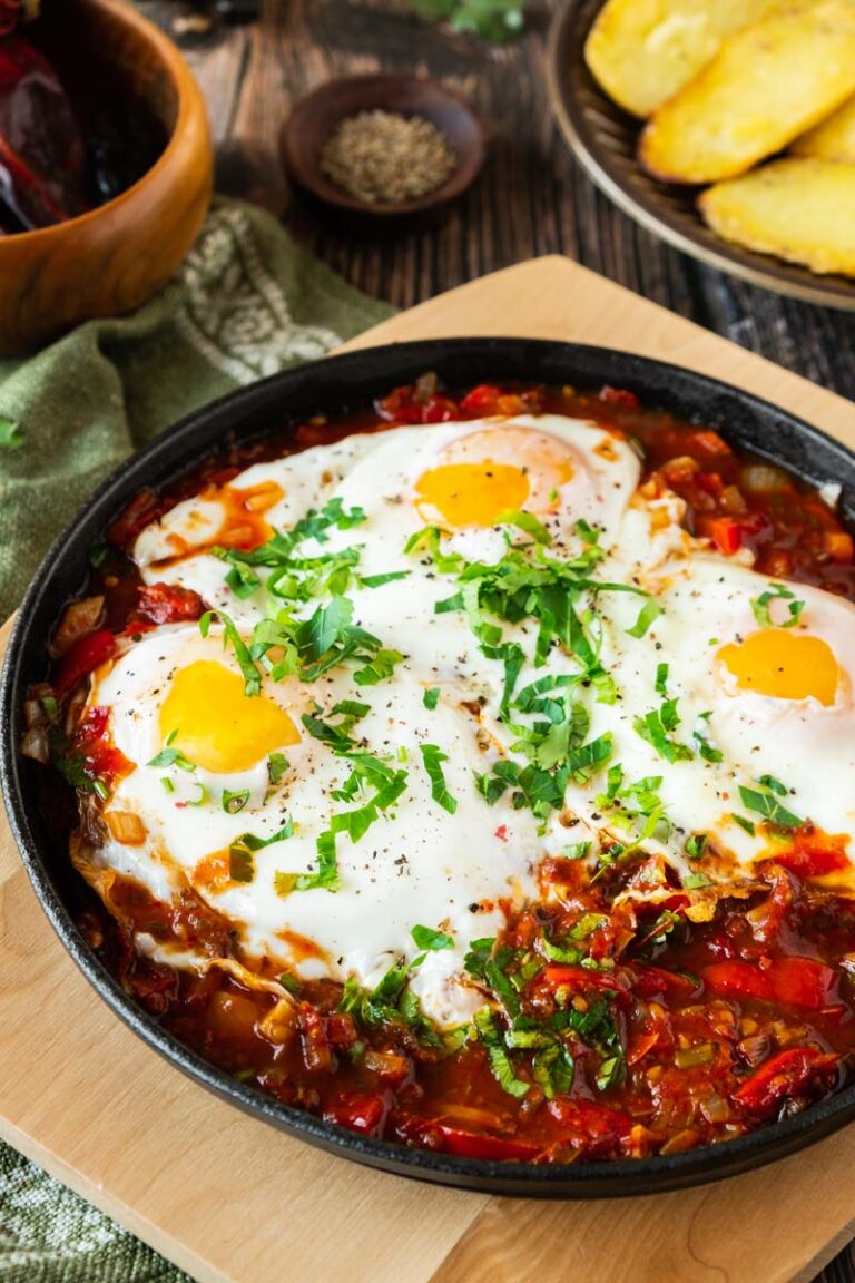 Mexican Baked Eggs in Pan