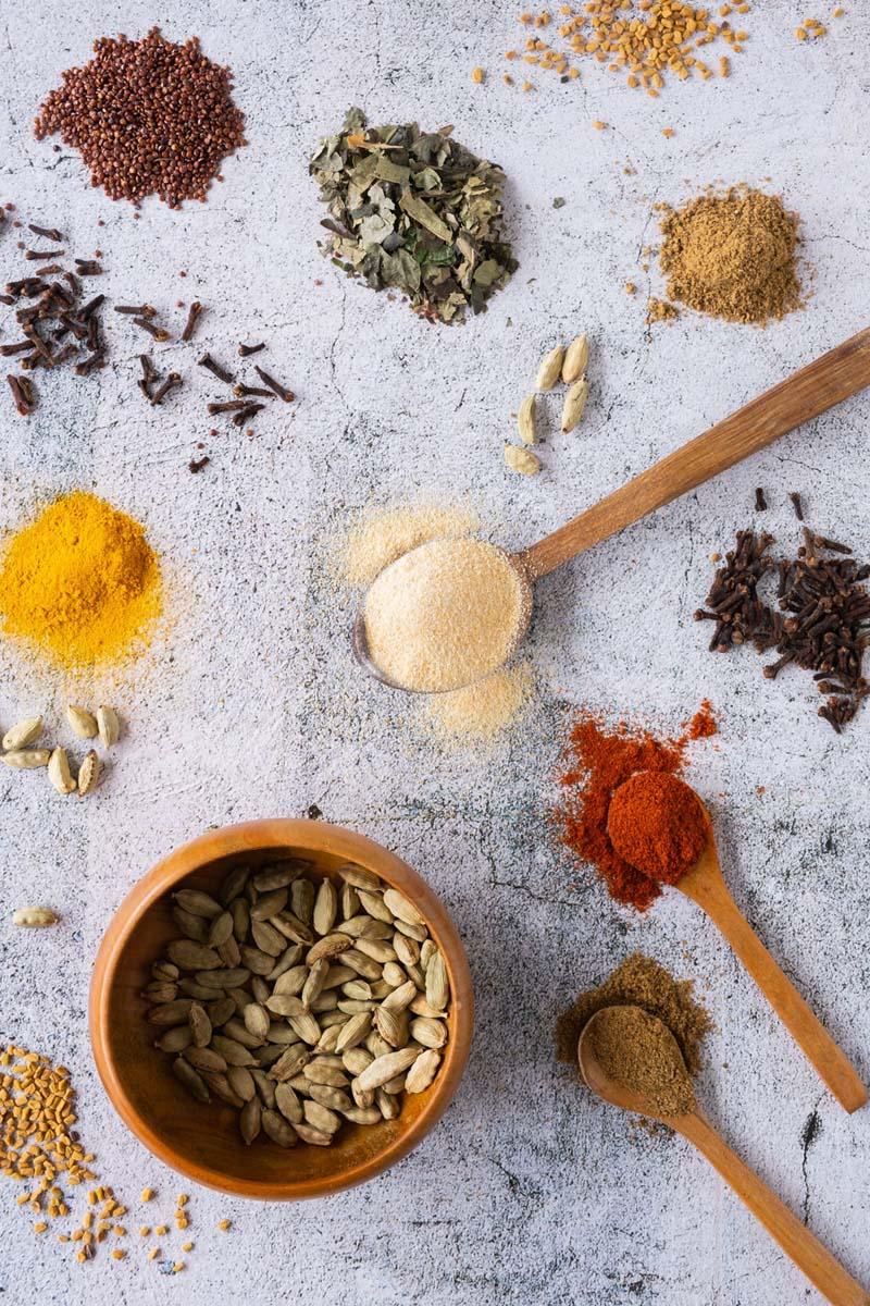 Ingredients for Vadouvan.