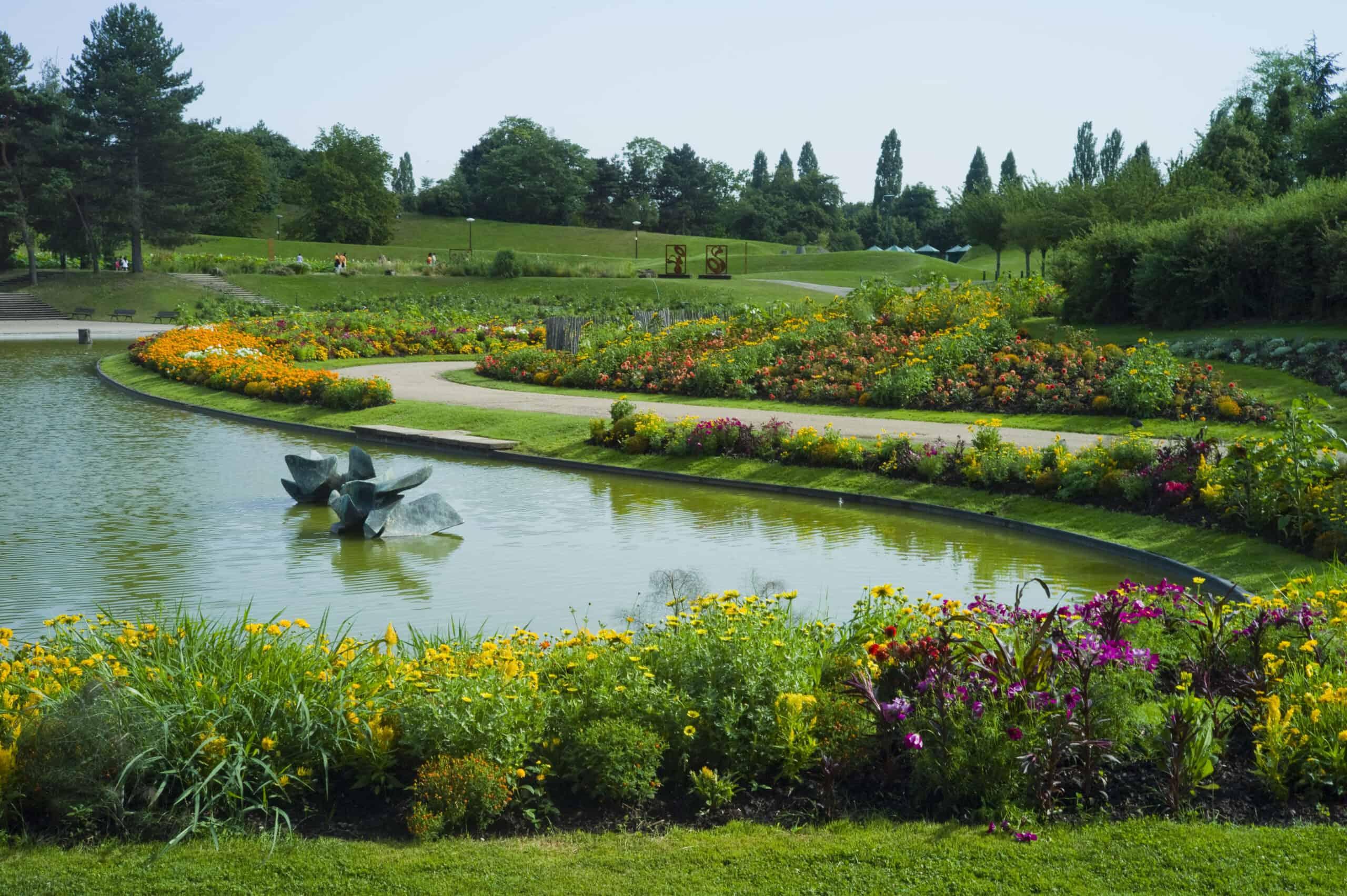 View of the landscape of Parc Floral Paris.