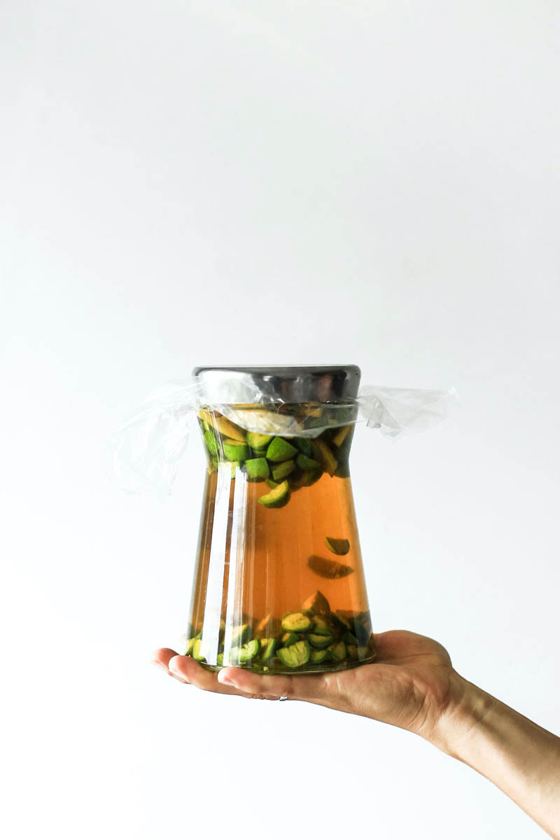Pickling Liquid in Jar.