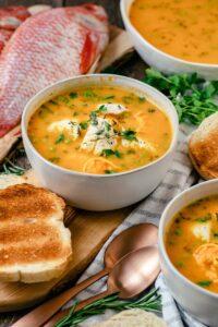 bouillabaisse in bowl