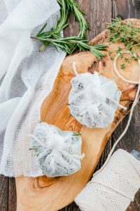 bouquet garni on cutting board