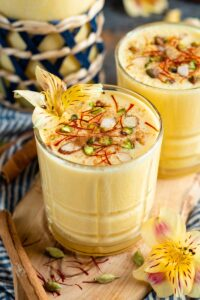 passionfruit lassi in a glass