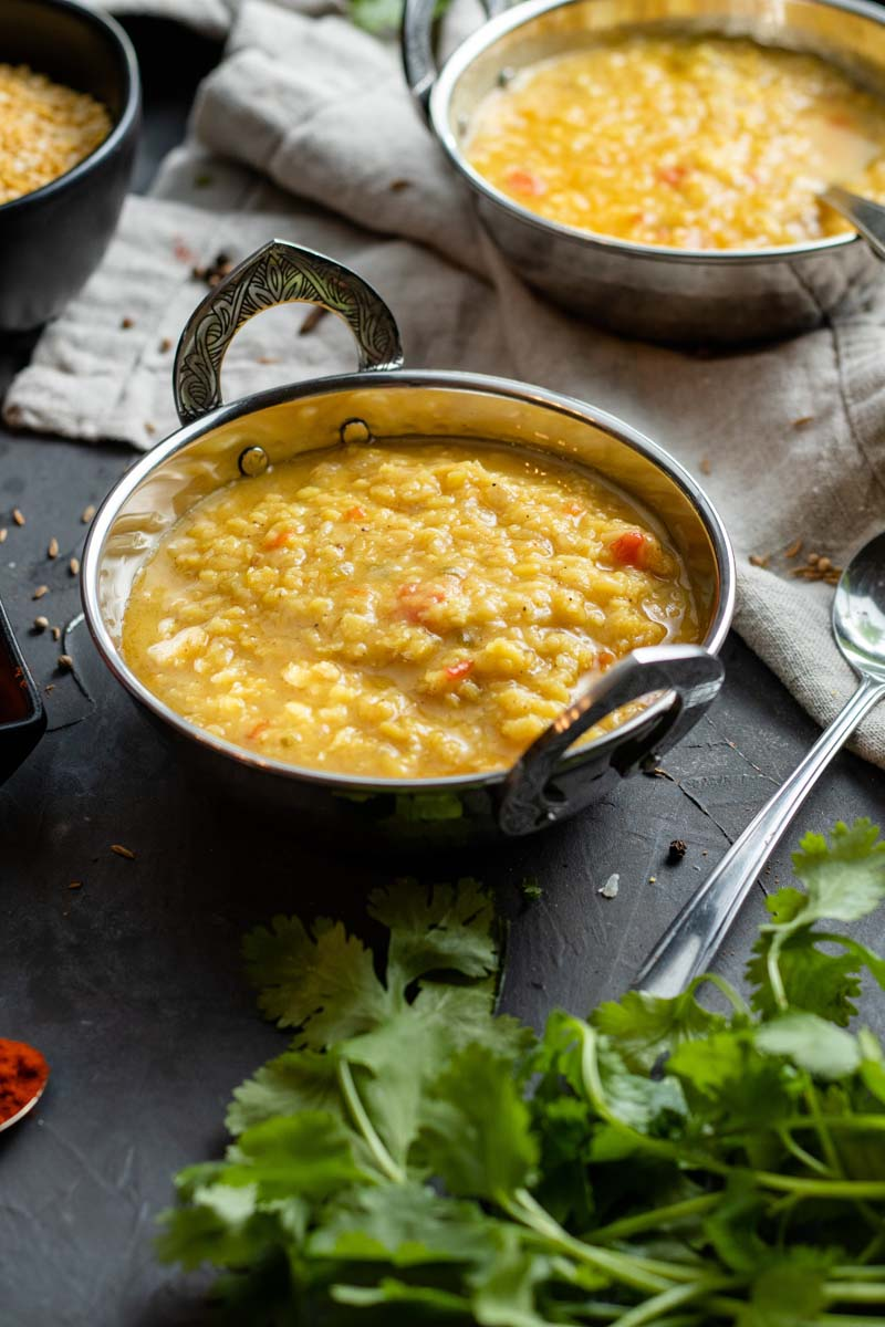 moong dal in a serving bowl