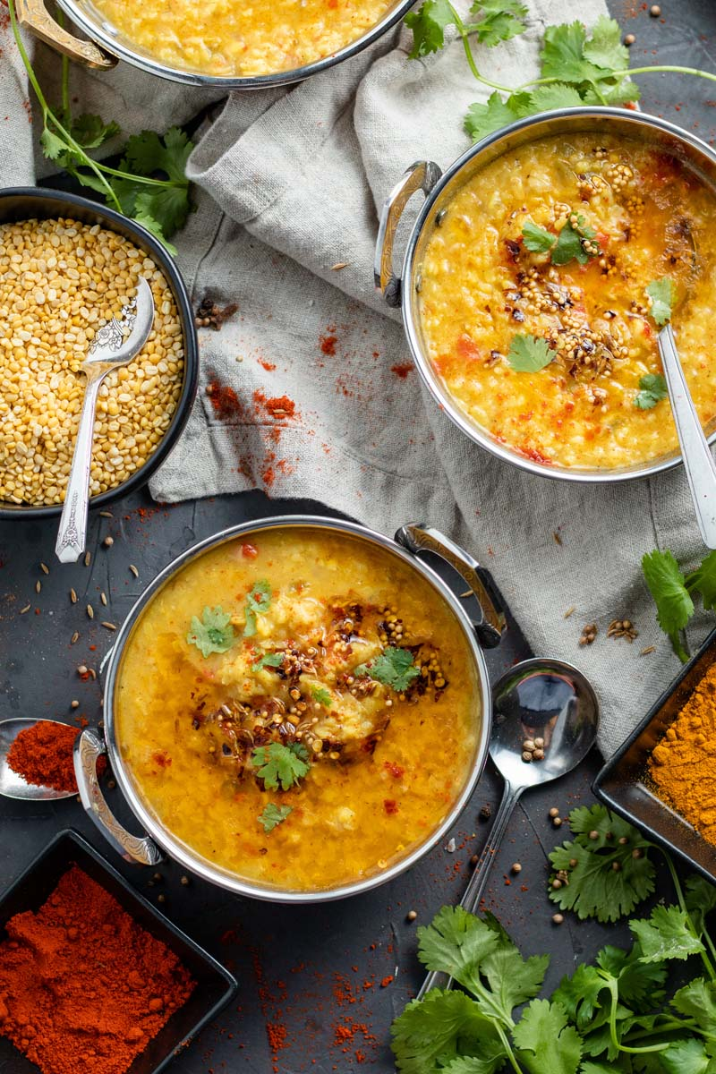 moong dal in bowls