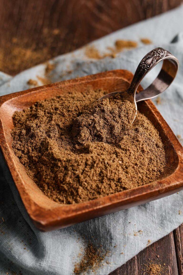 garam masala powder in a dish