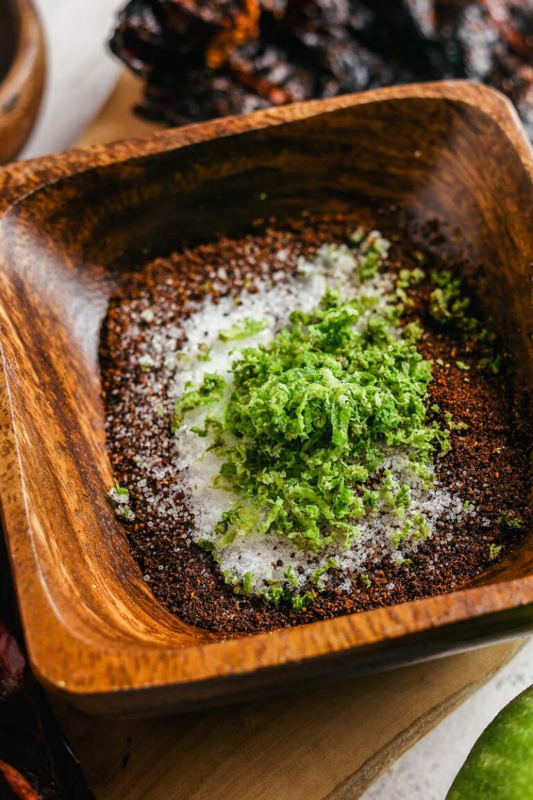 chile lime salt in a dish
