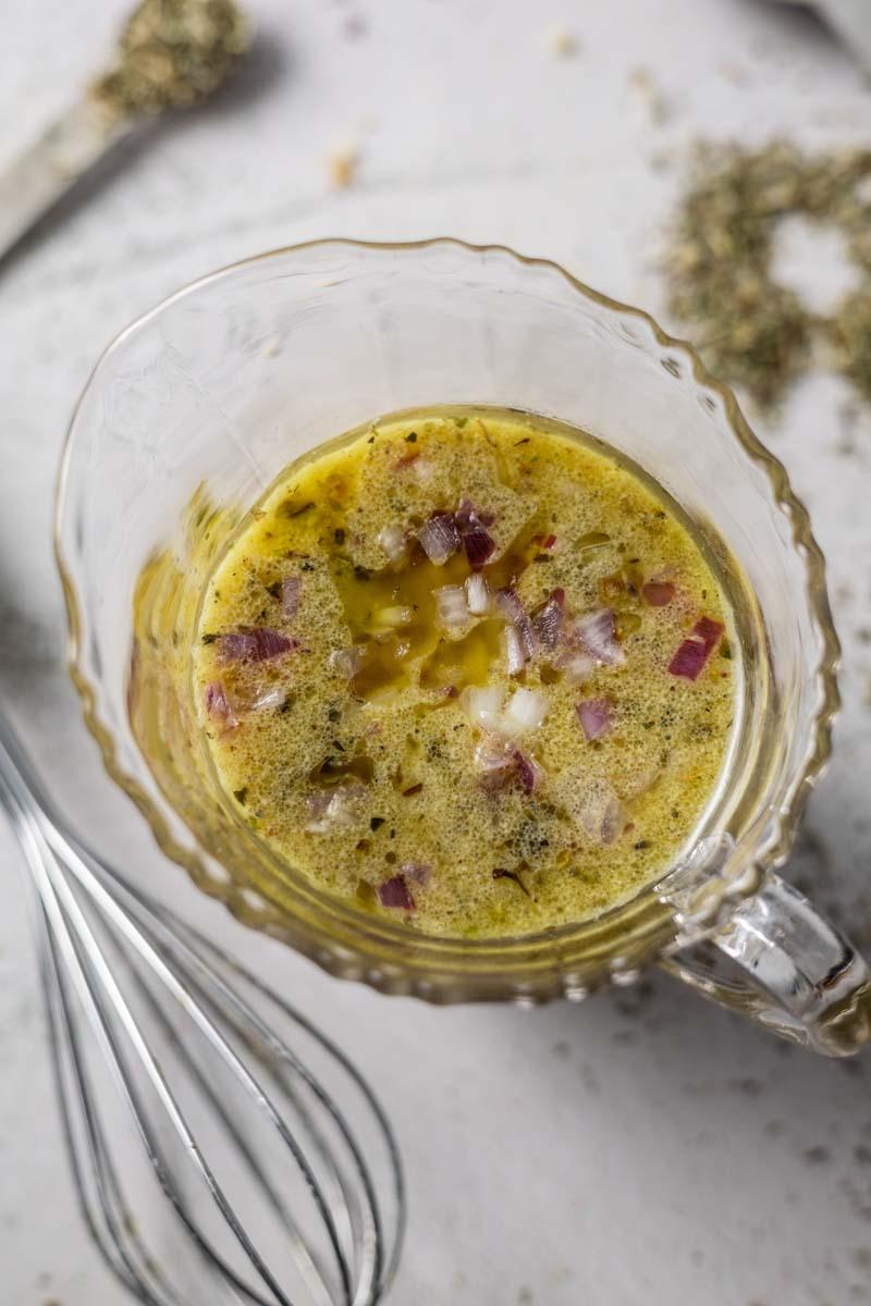 champagne vinaigrette in a bowl
